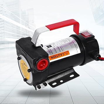 GOTOTOP Universal Dieselpumpe /Ölpumpe Kraftstoffpumpe Elektronik /Ölabsaugpumpe Elektro-Pumpe 12V mit Schlauch und Schmierpistole