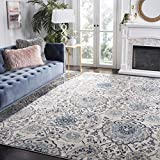 Safavieh Madison Collection MAD600C Cream and Light Grey Bohemian Chic Paisley Area Rug (3' x 5')