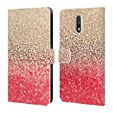 Official Monika Strigel Coral Gold & Glitter Collection Leather Book Wallet Case Cover For Motorola Moto G (3rd Gen)