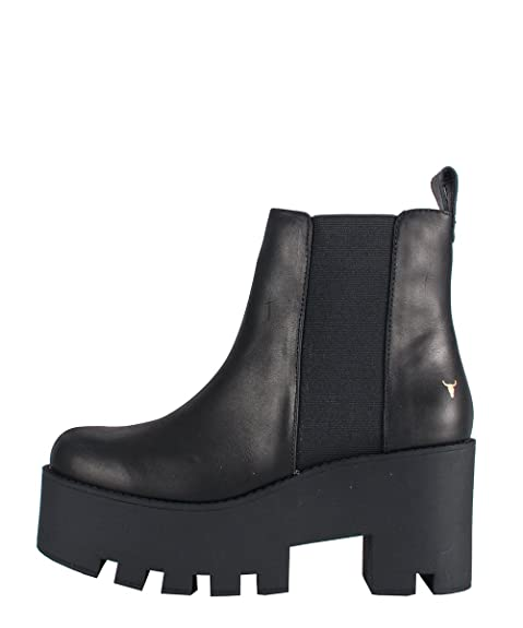 Windsor Smith Alien Boots Black Stivaletti Neri Pelle