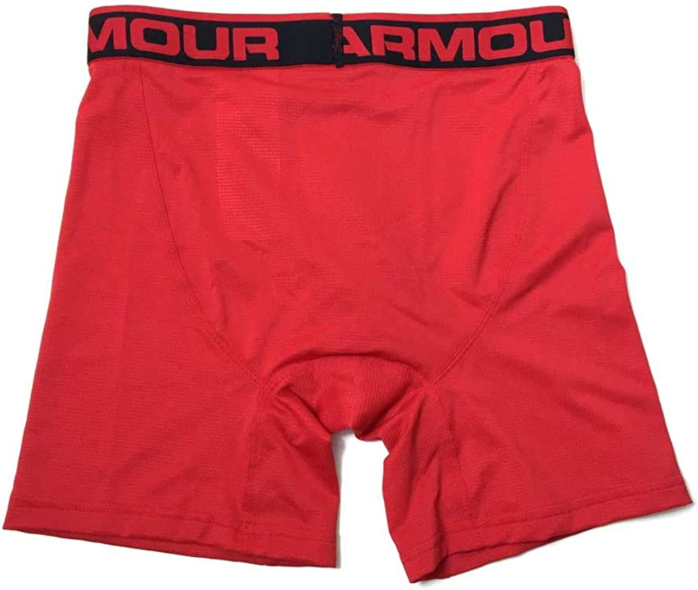 Under Armour Mens UA Mesh Boxerjock 6 Briefs Red Small