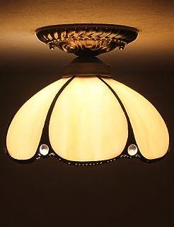 ZHMA Estilo de Tiffany lámpara de techo, 15cm Lamparas