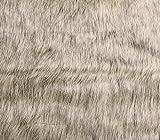 Faux Fake Animal Fur Fabric Long Pile LION BEIGE / 64