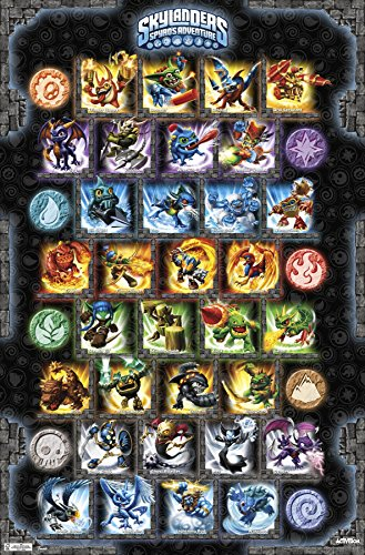 "Trends International Skylanders Grid Wall Poster 22.375"" x 34"""