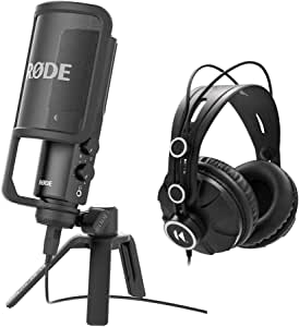 Rode NT-USB USB Condenser Microphone with Knox Headphone Bundle (2 Items)