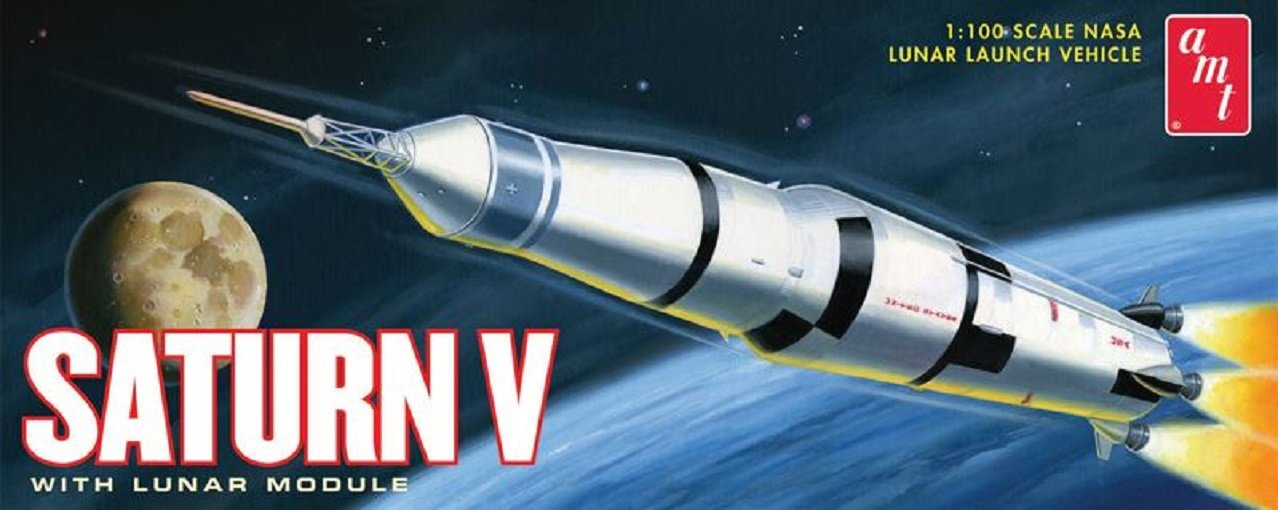 Round2 AMT846/12 - 1/200 Staturn V Rakete Fertigmodell