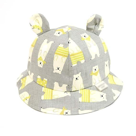 035f2dea Amazon.com: Teng Peng- Children's Sun Hat - 2-3-4 Year Old Fisherman hat,  Summer Outing, Cartoon Bear Ears, boy and Girl Sunhat Sun hat Children's hat  ...