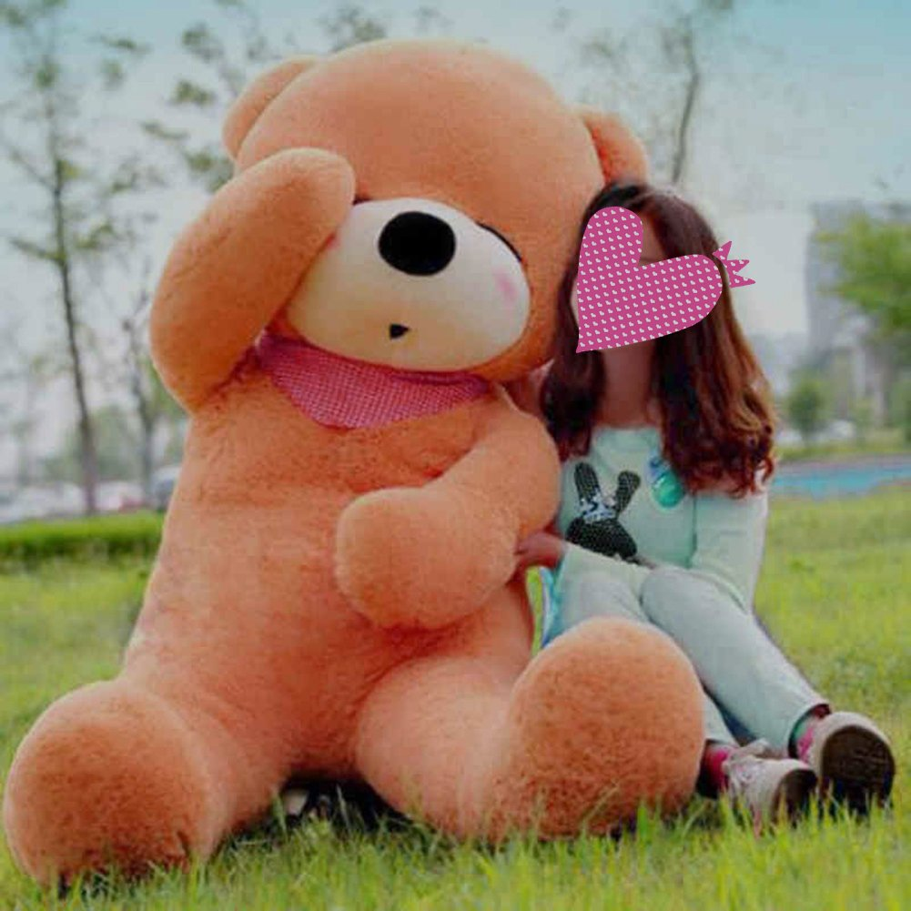 VERCART 39 inch Light Brown Giant Huge Cuddly Stuffed Animals Plush Teddy Bear Toy Doll by VERCART