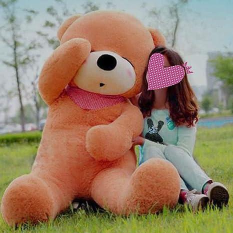 verc Art Regalo oso de peluche gigante Ojos cerrado oso de peluche muñeca marrón claro XXL