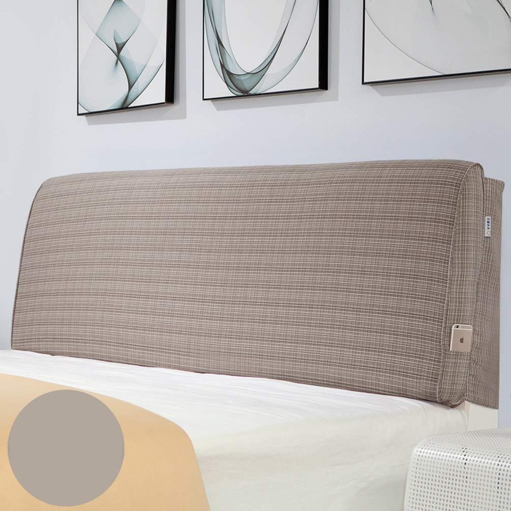 ベッド壁クッション布張りパッドウェッジ背もたれサポートソフトラージピローカバー取り外し可能、ベッド用ヘッドボードなし綿ベッドヘッドクッションベッド (Color : A, Size : No headboard-90cm) B07TCKZDWR A No headboard-90cm