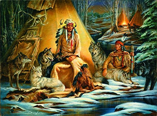 Indian American Teepee Native (Mystical Meeting 1000 Piece Jigsaw Puzzle by SunsOut)