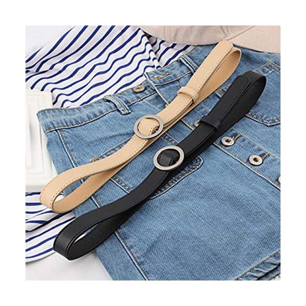 Firally Hot sale Cintura Donna Fibbia Tonda Senza Fibbia 105CM Stile Casual Dimensioni Regolabili Elastica Cintura in… 2 spesavip
