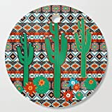 Society6 Wooden Cutting Board, Round, Southwest Cactus by vannina