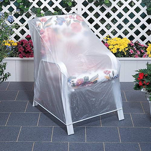 Set Of 2 Outdoor Vinyl Clear Chair Furniture Protector Cover Amazon