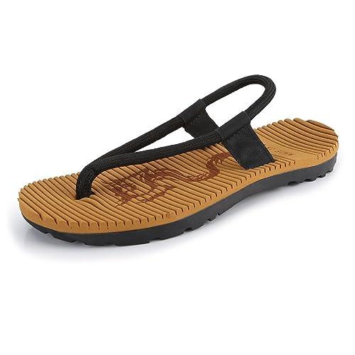 Chanclas Ocasionales de los Hombres Zapatillas de Playa de la Cuerda Sandalias Planas Suaves Antideslizantes,para los Hombres: Amazon.es: Zapatos y ...