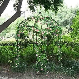 Arbor arco de 4lados metal Gazebo jardín al aire libre Patio toldo para escalada vides y flores