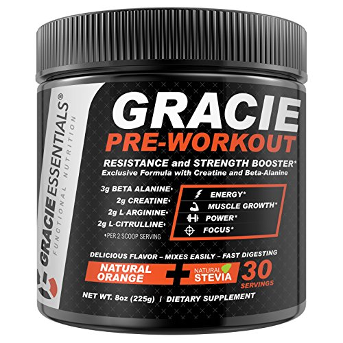 Gracie Essentials Pre Workout Powder Dietary Supplement 30 S