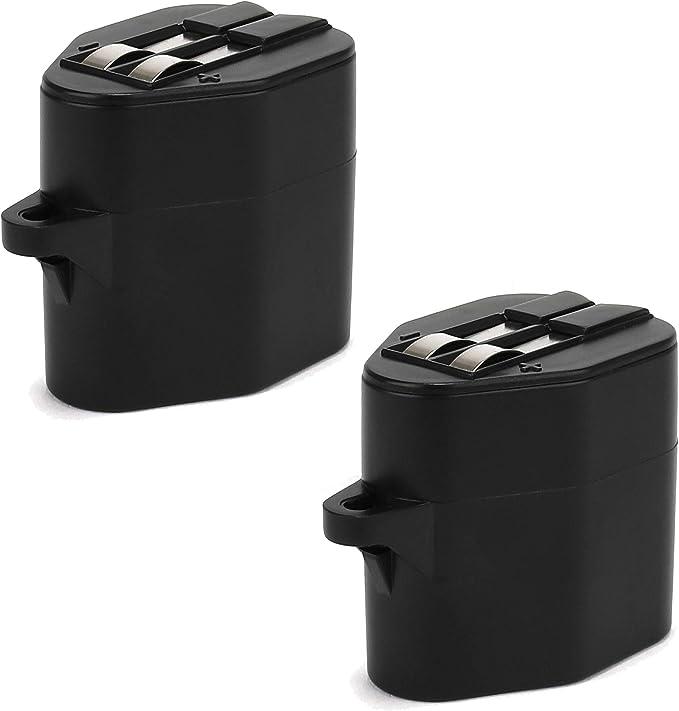 CELLONIC 2X Batteria Premium 6V, 2000mAh, NiMH Compatibile con Karcher RC 3000, RC 4000 Compatibile con Siemens VSR 8000, Accu di Ricambio