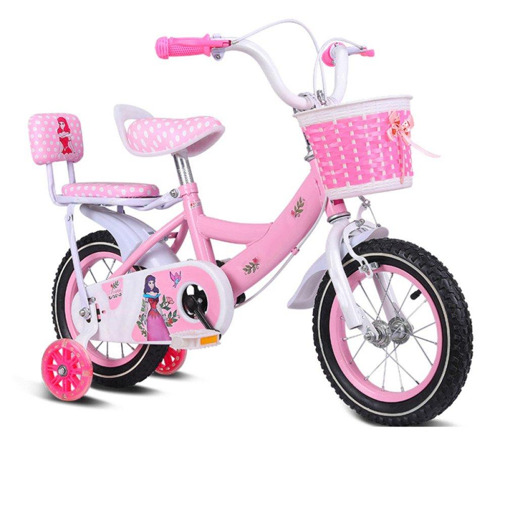 BICYCLE AB Bici per Bicicletta Bambini 2-11 Anni Bambina per Bambini Bambini Bambino Sedile Regolabile per manubri Antiscivolo Confortevole Freni Safe Bike Regalo per Ragazzi e Ragazze