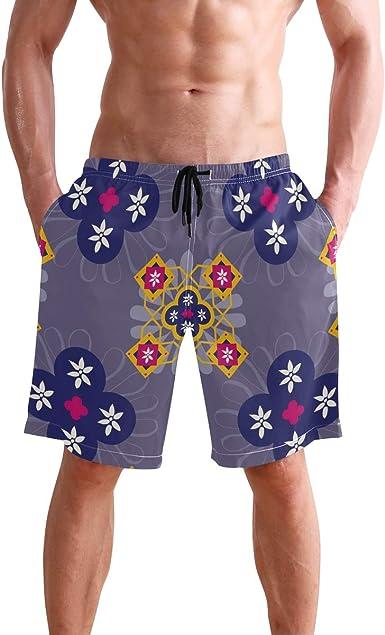 Bone Art Mens Beach Shorts Elastic Waist Pockets Lightweight Swimming Board Short Quick Dry Short Trunks