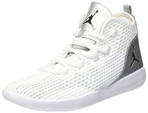 Nike White/Blk-mtllc Slvr-Infrrd 23, Zapatillas de Baloncesto para ...