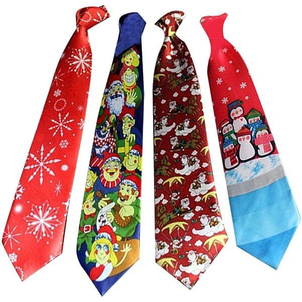 flower205 4 Piezas Corbata De Navidad Corbata con Estampado ...