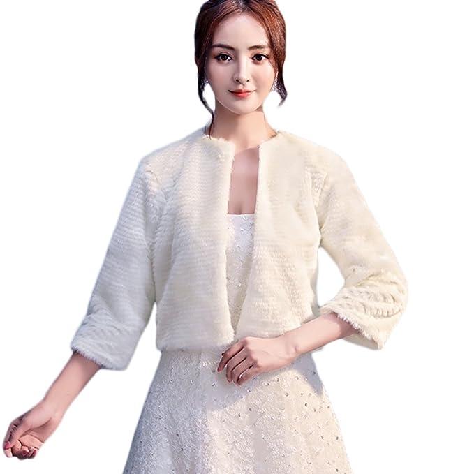 Insun Chal para mujer chaquetas de las mujeres abrigo chal para Noche y weddimg vestido Champán 1: Amazon.es: Ropa y accesorios