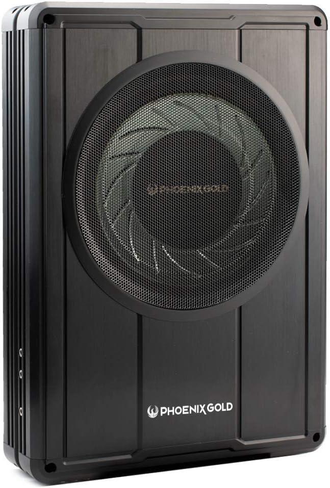 Phoenix Gold Z8150 20cm Aktiv Subwoofer 150w Rms Flaches Design Für Untersitz Montage Audio Hifi
