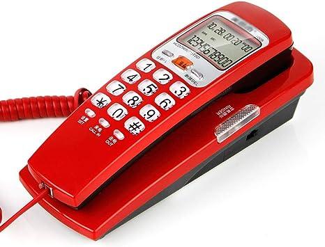 LNDDP Teléfono Retro, teléfono montado en la Pared Identificador Llamadas Colgantes Moda Oficina Hogar Asiento Fijo Teléfono con Cable/Colgar Teléfono Antiguo Doble Uso, Oficina, Hotel: Amazon.es: Deportes y aire libre