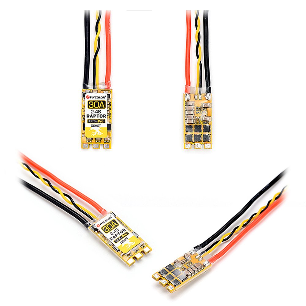 Cigooxm Flycolor Raptor BLS-Pro 30A 2-4s Brushless ESC Electronic Speed Controller for 170-330 Multirotors RC Drone