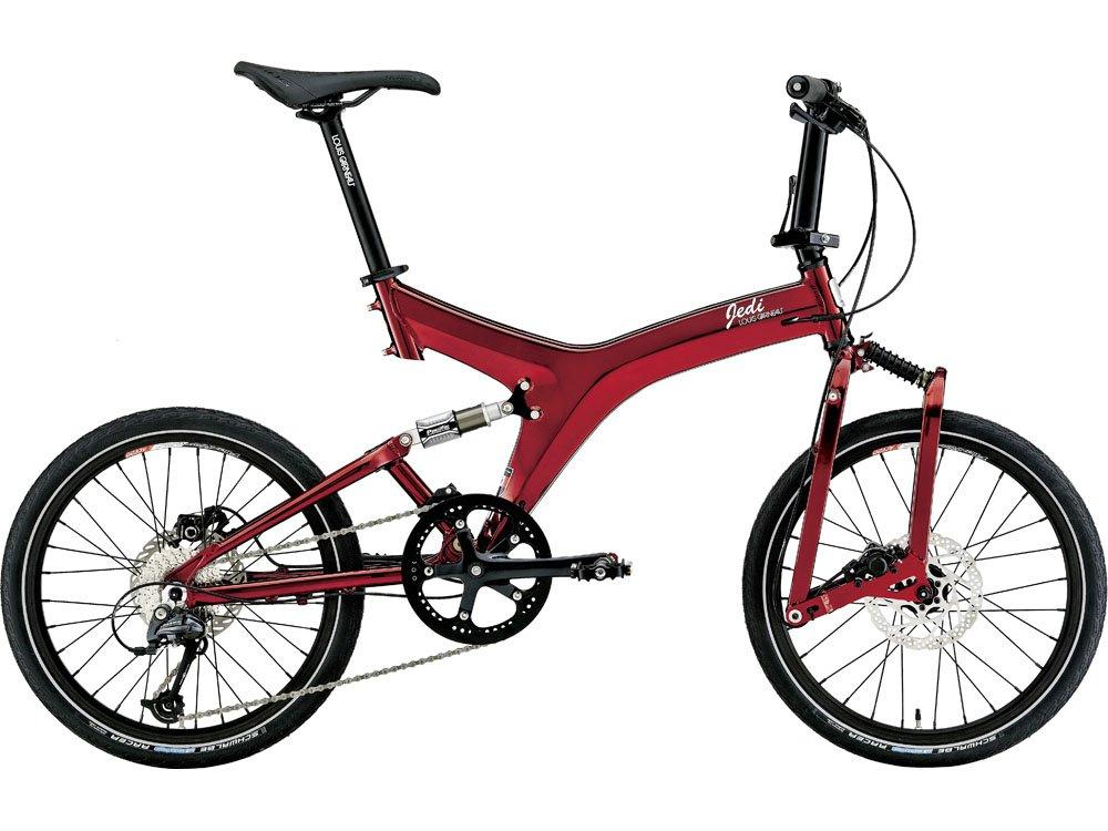 ルイガノ(LOUIS GARNEAU) 16'LGS-JEDI MS 折畳自転車20415mm ニッケルレッド 15LG-JMS-01 B018HNKS08