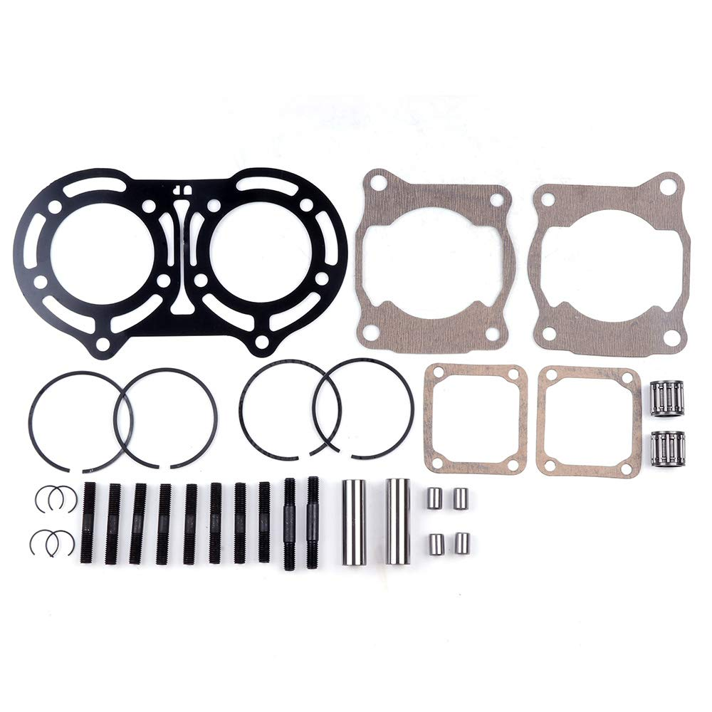 ECCPP New Cylinder Piston Ring Gasket for 1987-2006 Yamaha Banshee/350 YFZ 350 Compatible fit for Cylinder Piston Gasket Top End Kit