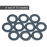 Oil Drain Plug Washer Gasket , 90430-12031,10PCS /Set Gaskets Rings for Toyota, Crush Washer Engine Gaskets for Lexus Replacement