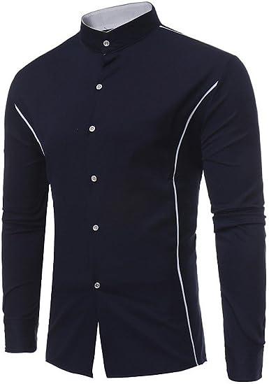 FAMILIZO Camisas Hombre Manga Larga Slim Fit Camisas ...