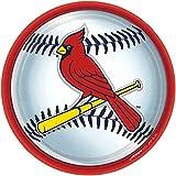 "Amscan St. Louis Cardinals 9"" Round Dinner Plates"