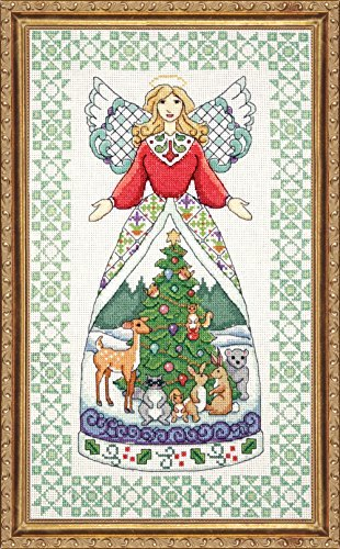 Design Works Jim Shore Winter Angel Cross Stitch Kit by Design Works by Tobin (Image #1)