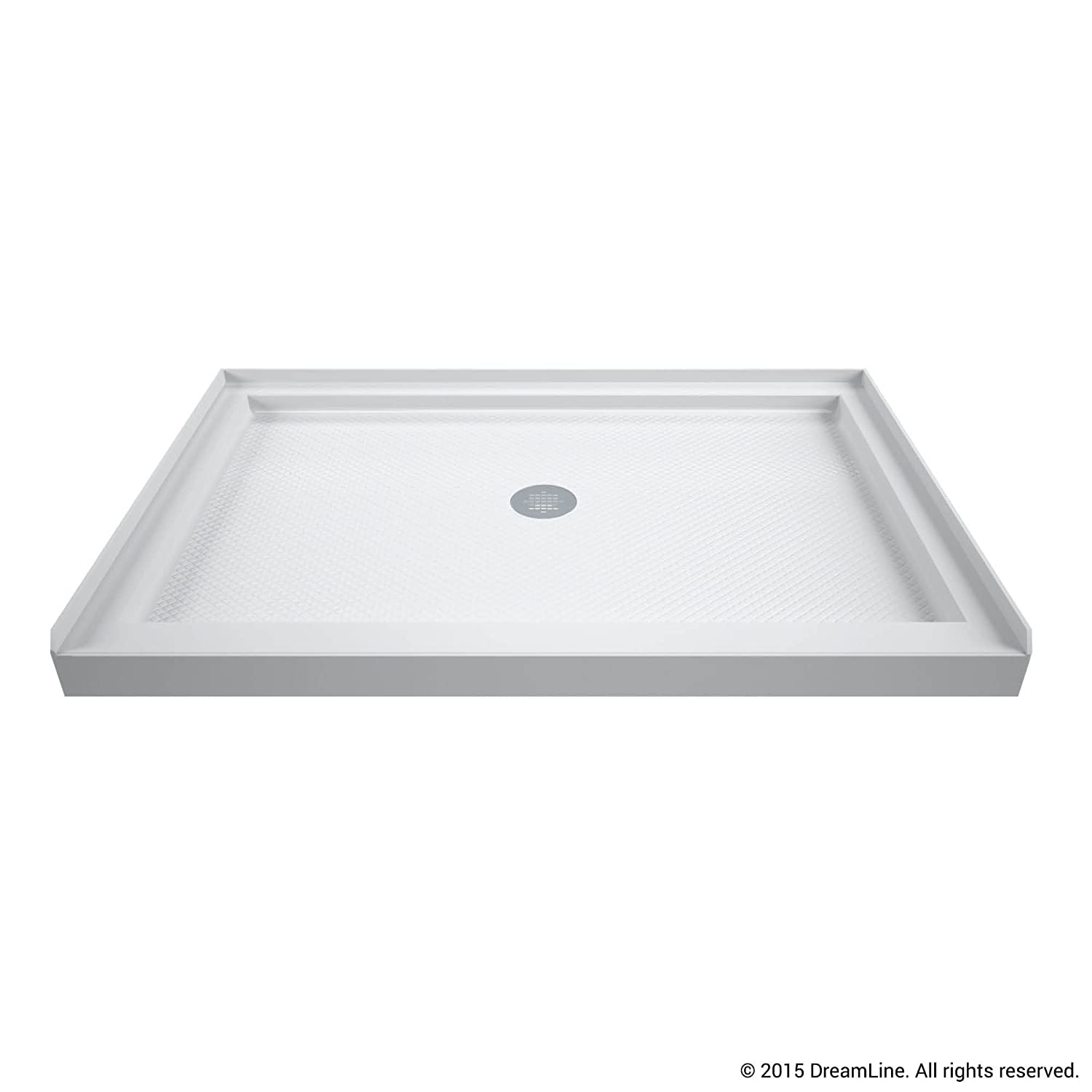 DreamLine SlimLine 32 in. D x 48 in. W x 2 3/4 in. H Center Drain ...
