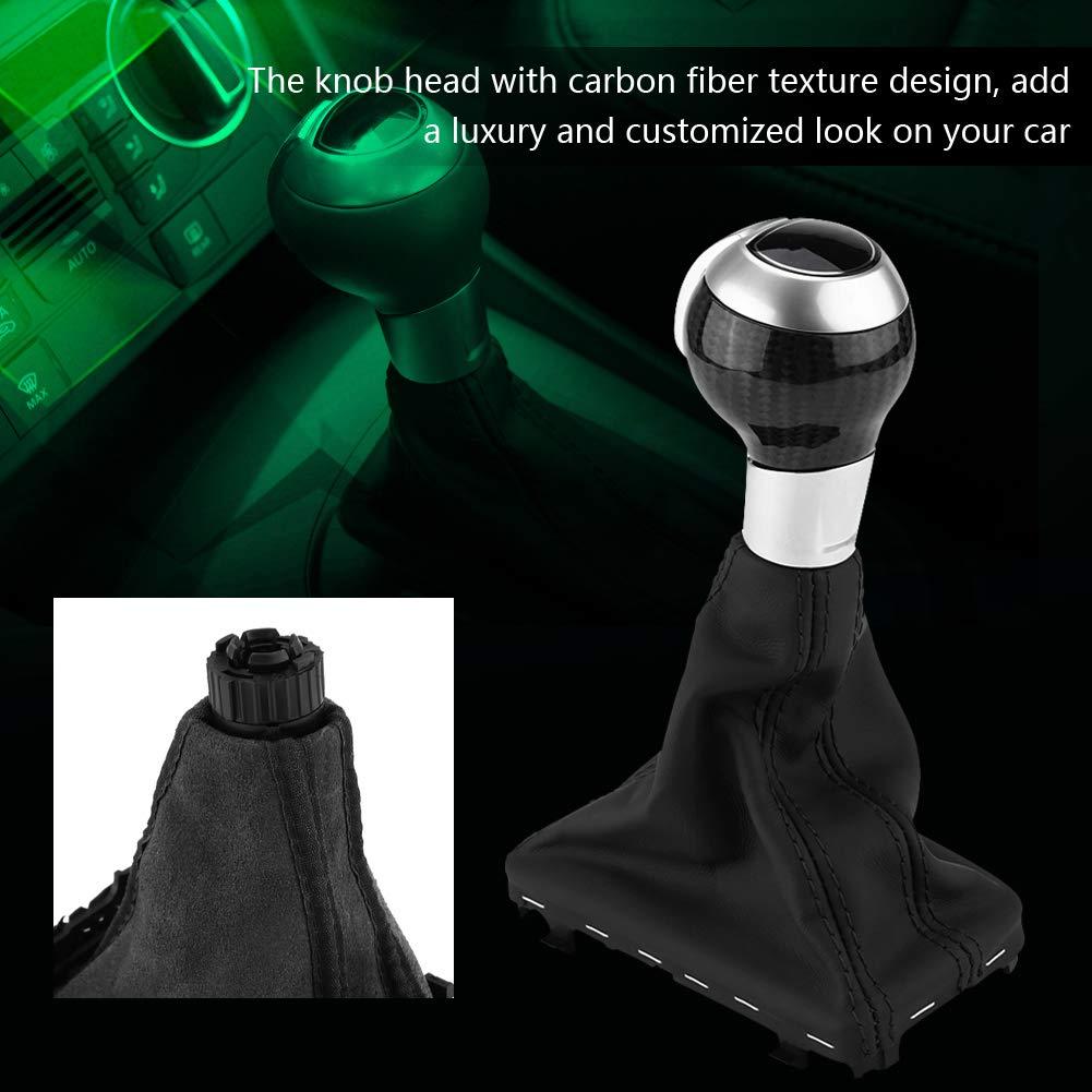 Gear Shift Knob Cover 1pc Carbon Fiber Automatic Gear Stick Shift Knob for Audi Q3 A3 S3 RS3 Keenso
