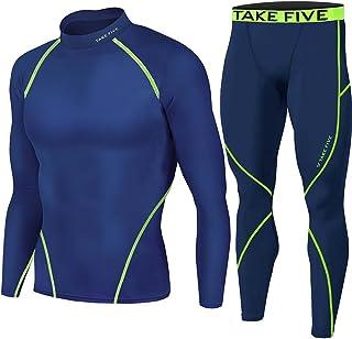 Take Five Winter Warm Thermal Base Layer Long Sleeve Shirts & Long Pants