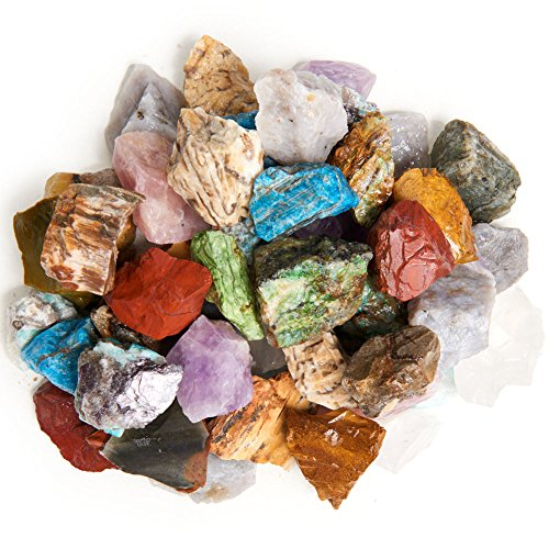 Digging Dolls 2 lbs Natural Premium Madagascar Rough Stone Mix - Large Size - 1'' to 1.5'' Average - Raw Rough Rocks for Arts, Crafts, Tumbling, Polishing, Gem Mining, Wire Wrapping and More! by Digging Dolls (Image #3)