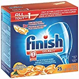 Finish All in 1 Gelpacs Orange, Automatic Dishwasher Detergent Tablets (50 Count - 2 Packs of 25)