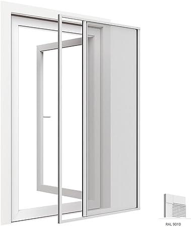 Mosquitera enrollable para puertas de aluminio 125 x 220 cm - Tejido de fibra de vidrio - Diferentes colores a elegir, Color:Blanco: Amazon.es: Hogar