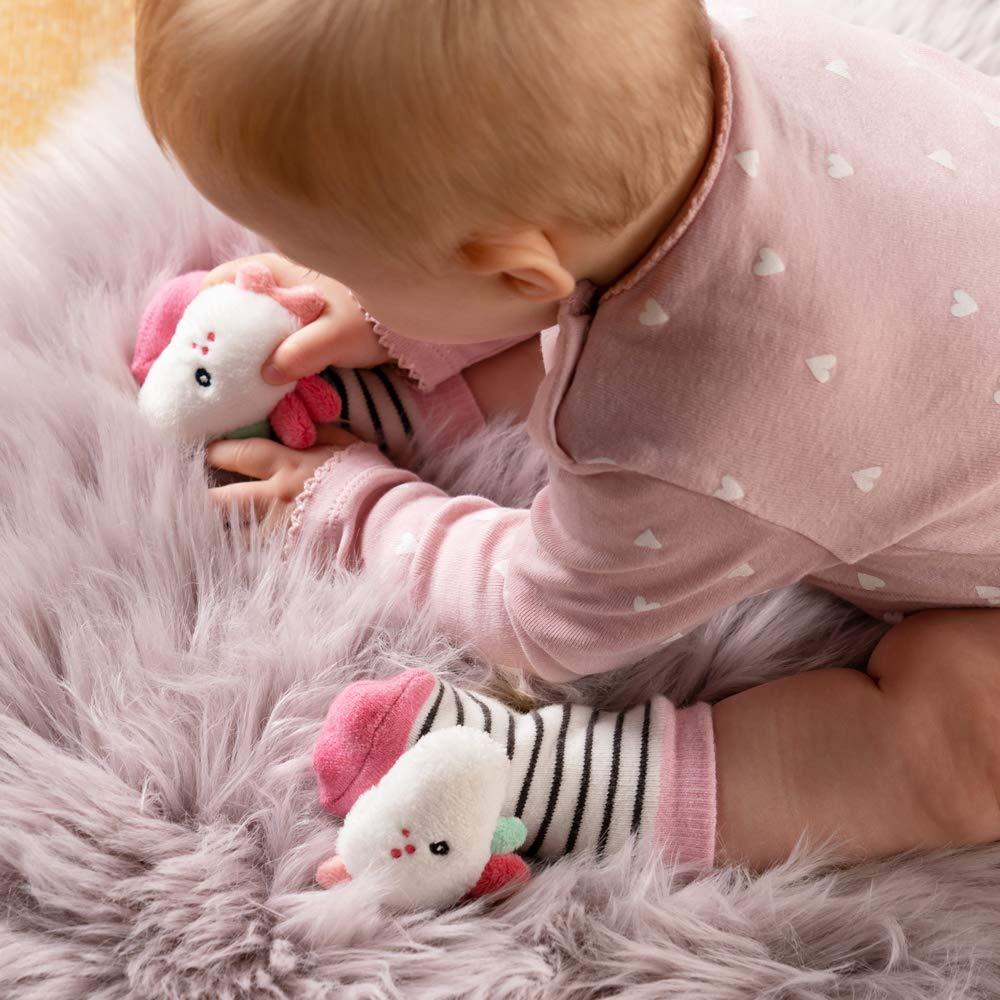 Rasseln Strampeln /& Ger/äusche erzeugen Lernspielzeug f/ür Babys von 0-12 Monaten FEHN 057164 Rasselsocken Einhorn // Activity-Babys/öckchen mit niedlichen Tier-K/öpfchen zum Greifen