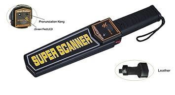 Takestop® Detector de metales profesional a mano Manual Detector de metales 2 niveles de sensibilita