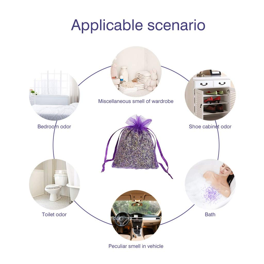Light Purple Home Fragrance Sachets Drawers Dressers 20Bags of Purple French Dried Lavender Sachets Craft Bag Lavender Sachets Wedding Toss