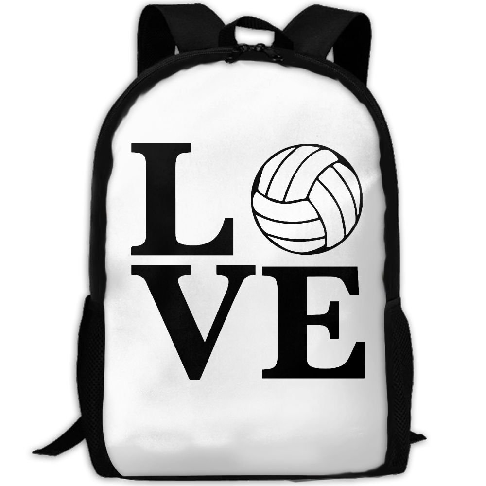 ZQBAAD I Love Volleyball Luxury Print Men And Women's Travel Knapsack