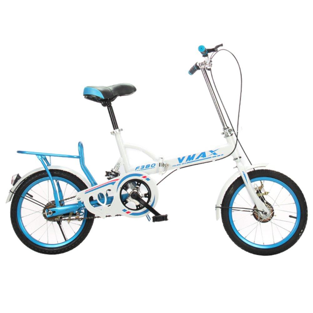 大人 折りたたみ自転車, 折りたたみ自転車 男性と女性 超軽量 子供たち 学生 折り畳み自転車 B07D1242Q3青 20inch