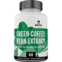 EBYSU Green Coffee Bean Extract – 60 Day Supply - Weight Loss Supplement & Source of Antioxidants - Capsules for Managing Glucose Levels, Lowering Blood Pressure & Improving Cardiovascular Health