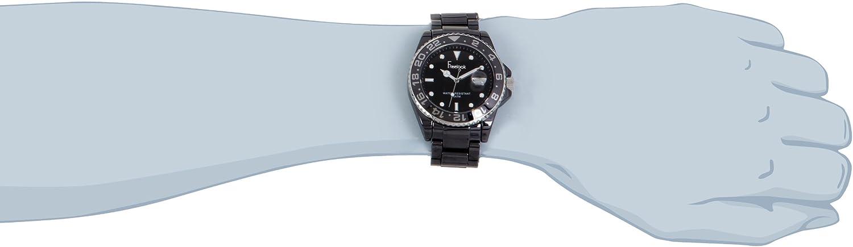 Freelook Men s HA5109-1 Lagon Black Ceramic with Black Bezel and Dial Watch