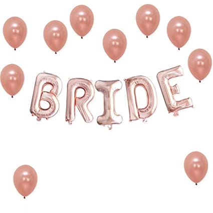 3914ffc7d3e Amazon.com  Bride Rose Gold Balloons Decorations – Great for Bridal ...